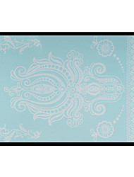 Lovely HENNA Lace Big White Face Sticker 10
