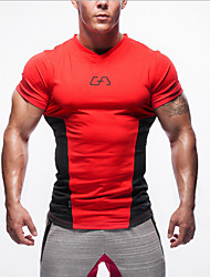 Others Men's Short Sleeve Sport Tops Breathable / Wearable Red Taekwondo / Climbing M / L / XL / XXL