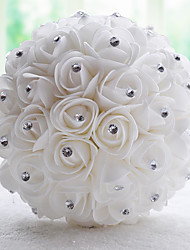 Vintage White/Cream PE Rose Flower Bridal Wedding Bouquet