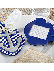 Nautucal Anchor Rubber Luggage Tag, Table Place Card Holder Wedding Decoration Favors