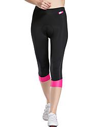 TASDAN Bike/Cycling 3/4 Tights / Shorts / Padded Shorts Women'sBreathable / Quick Dry / 3D Pad / Reflective Trim/Fluorescence /