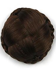 Kinky вьющиеся каштановые большой переплетения человеческих волос монолитным парики шиньоны 2009
