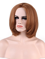Capless  Short Straight Highlights Human Hair Wigs 8 Colors to Choose