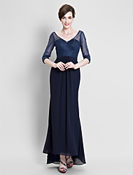 A-line Mother of the Bride Dress Floor-length Chiffon with Beading