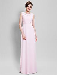 Lanting Невеста Футляр Платье для матери невесты В пол Без рукавов Шифон - Бусины