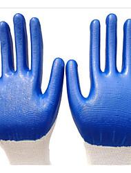Luvas de protecção resistentes de corte de nylon branco azul petróleo nitrílica