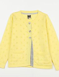Girl's Casual/Daily Solid Blouse,Cotton Fall Red / White / Yellow