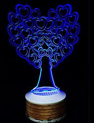 Беспроводная связь Bluetooth колонки 3d красочный ночной свет дает дерево