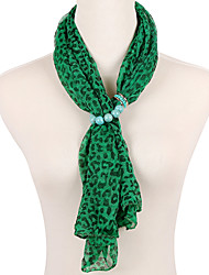 D Exceed Green Leopard Pattern Printed Scarves Soft Warmth Long Scarves Free Shipping Luxury Brand Scarf