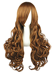 Cosplay Wigs Hetalia Elizabeth Brown Long Anime Cosplay Wigs 90 CM Heat Resistant Fiber Male / Female