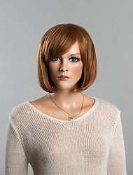 Straight Light Auburn Popular Bob Human Wigs