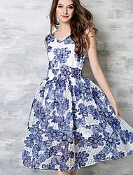 maxlindy Frauen Ausgehen / Cocktail / Urlaub Jahrgang / Straße chic / anspruchsvolle Swing pin up Kleid