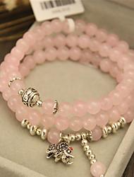Fashionable Crystal 52cm Round Strand Bracelets