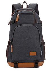 15 polegadas laptop de lona mochila de estudante / azul viajar / preto / caqui / café