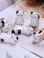 Ceramic Hand-painted Kitty Chopsticks Frame 6/suits