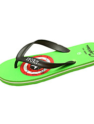 Men's Slippers & Flip-Flops Summer Flip Flops Leatherette Casual Flat Heel Others Black Green Red Gray