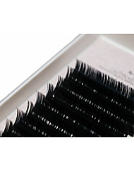 A Box Has 12 Rows of Eyelashes Silk Protein  Individual Lashes Eyes / Eyelash Thick Extended /  Handmade 13mm