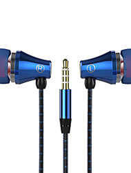 esportes telefone auricular headset ouvido fone de jogging fio graves com trigo dt-201a