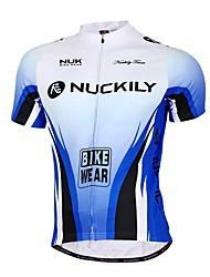 Maillot de Cyclisme Homme Manches courtes Vélo Respirable Anti-transpiration Maillot + Short/Maillot+Cuissard Hauts/Tops BasTérylène