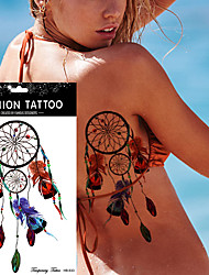 5Pcs Dreamcatcher Tattoo Peacock Feather Temporary Sticker  Dream Catcher Body Art Waterproof Tattoo Design