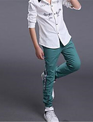 Pantaloni Maschile Con stampe Primavera Cotone