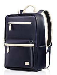 CKI High-end Genuine Leather Men Backpack Top Layer Cowhide and Oxford Cloth Shoulder Messenger Laptop Travel Bag Black