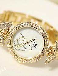 Women's Fashion Watch Quartz Japanese Quartz / Stainless Steel Band Sparkle Silver Gold Brand
