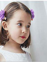 Girls Hair Accessories,All Seasons Chiffon Pink / Yellow