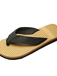 Sapatos Masculinos-Chinelos e flip-flops-Marrom / Verde / Cinza-Lona-Casual