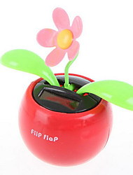 Solar Energy Powered Swing Flower Car Funishing Articles