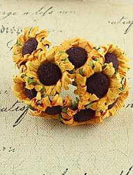 100 20 Une succursale Papier Tournesols Fleur de Table Fleurs artificielles 1.2*1.2