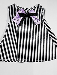 Sharon Doll Dress Princess Dress 16 Inch Vinyl Clothes Handmade Dress Accessories Three Sets Of Black And White Stripes