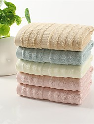 "1 Piece Bamboo Fabric Hand Towel 30""by13"" Solid Multicolor Thickening Super Soft"