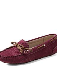 Women's Shoens Leatherette Flat Heel / Round Toe / Comfort Boat Shoes / Dress Casual / Office & Career