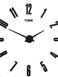 MQ - 010Large Size Creative Diy Wall Clock Art Background Wall Clock Modern Personality Quiet Bell