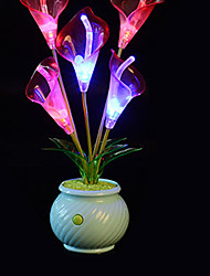 Creative Artificial Flower LED Color Changing Night Light  Light Color Randomization