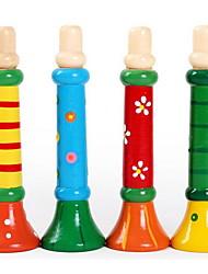 coloré instruments en bois trompette wm111 perception de la musique jouet éducatif orff pour la petite enfance de l'éducation