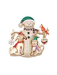 Fashion Women Cute Enamel Christmas Metal Brooch