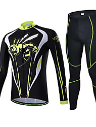 Sports® Cycling Jersey with Tights Men's Short Sleeve Breathable / Sweat-wicking Bike Jersey + Pants/Jersey+Tights / Tops / Bottoms