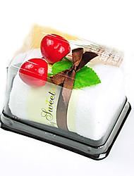 Cleaner Swiss Roll Cake-Shaped Hand Towel Fake Dessert Cake Decor Wedding Favors (Random Color)