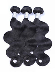 "3Pcs/Lot 8""-30"" Brazilian Virgin Hair Natural Black Color Body Wave Human Hair Weaves Hot Sale ."