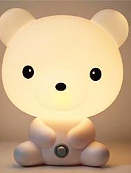ziemlich süß Tier Nachtlicht Baby-Raum Bruin Cartoon schlafen Licht Schlafzimmer Schreibtischlampe Lampe Nacht am besten für Geschenke