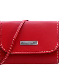 Women-Casual / Shopping-PU-Shoulder Bag-Brown / Red / Black