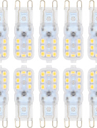 3W G9 Luces LED de Doble Pin T 14 SMD 2835 300 lm Blanco Cálido / Blanco Fresco Regulable AC 100-240 / AC 110-130 V 10 piezas