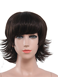 Capless Black Color High Quality Natural Short Curly Synthetic Wig