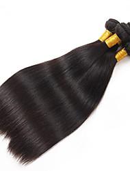 Peruvian Virgin Hair Weft Silk Straight Hair Weaves Hiar Bundles 6A Grade Peruvian Silk Straight Hair Extensions