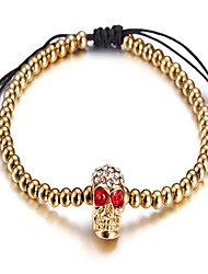 Kalen Jewelry Men's Stainless Steel 18k Gold Plated Skull Bracelet from China Jewelry Manufacturer
