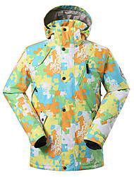 GSOU SNOW® Ski Wear Ski/Snowboard Jackets Men's Winter Wear Polyester Winter ClothingWaterproof / Breathable / Thermal / Warm / Windproof