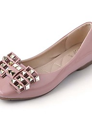 Women's Shoes Leatherette Spring / Fall Comfort / Round Toe Flats Outdoor / Office & Career / Casual Low Heel Crystal