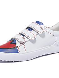 Damen-Sneaker-Lässig Sportlich-Kunststoff-Flacher Absatz-Komfort-Schwarz Weiß